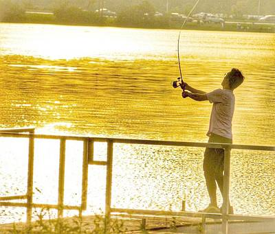 Photograph - Fishing At Sunset by Sumoflam Photography