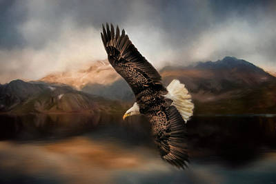 Eagle In Flight Photograph - Fishing At The Mount by Jai Johnson