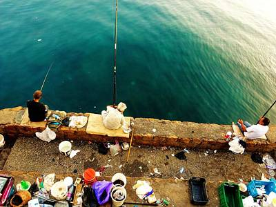 Photograph - Fishing Beirut  by Funkpix Photo Hunter