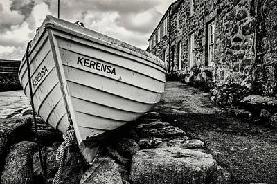 Photograph - Fishing Boat And Fisherman Cottages by Christopher Rees