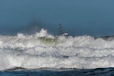 Photograph - Fishing Boat And Surf by Robert Potts