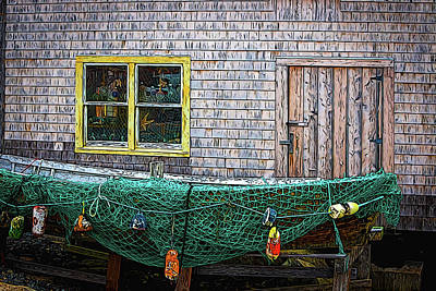 Painting - Fishing Boat by Andre Faubert