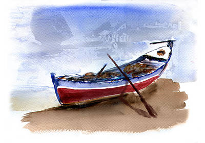 Transportation Mixed Media - Fishing Boat by Anselmo Albert Torres