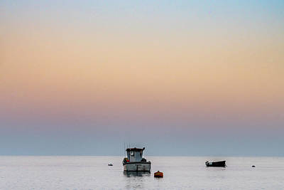 Photograph - Fishing Boat At Dusk by Framing Places