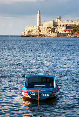Photograph - Fishing Boat At Morro Castle Havana Cuba by Charles Harden