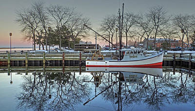 Fishing Boat At Newburyport Art Print