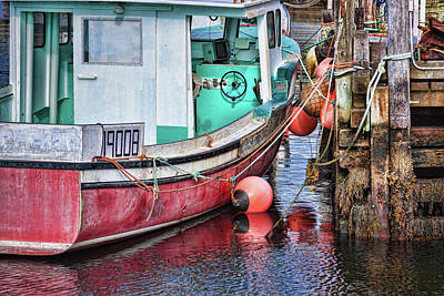 Photograph - Fishing Boat At Peggy's Cove by Tatiana Travelways
