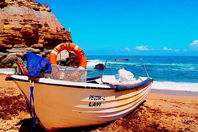 Photograph - Fishing Boat At Porto Novo  by Dora Hathazi Mendes
