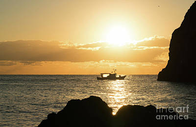 Photograph - Fishing Boat At Sunrise by Giovanni Malfitano