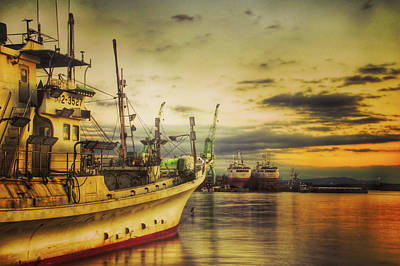 Photograph - Fishing Boat At Sunset by Kazu Photos