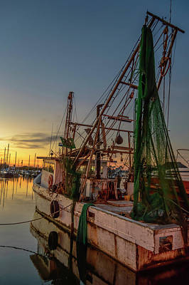 Photograph - Fishing Boat At Sunset by Leticia Latocki
