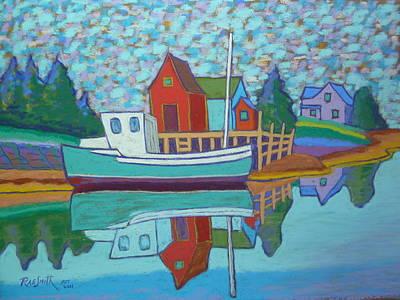 Fishing Boat At Tanners Pass Art Print