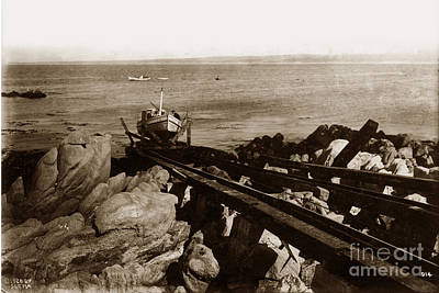 Photograph - Fishing Boat B 399 On Marine Railway System 1920 by California Views Archives Mr Pat Hathaway Archives