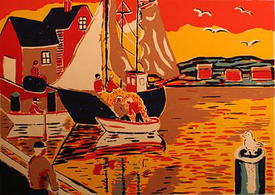 Fishing Boat Art Print by Biagio Civale