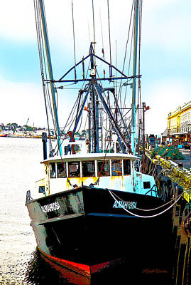 Digital Art - Fishing Boat Boston Harbor by Michelle Constantine