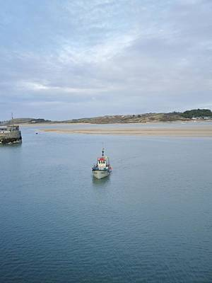 Photograph - Fishing Boat Coming Home To Padstow Cornwall by Richard Brookes