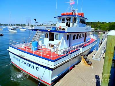 Fishing Boat Docked Art Print by Ed Weidman