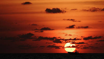 Photograph - Fishing Boat Sunrise Delray Beach Florida by Lawrence S Richardson Jr