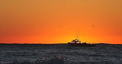 Photograph - Fishing Boat Eclipses The Sunrise by Robert Banach