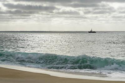 Photograph - Fishing Boat On The Silver Seas by Georgia Mizuleva