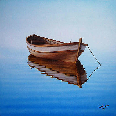 Transportation Painting - Fishing Boat I by Horacio Cardozo