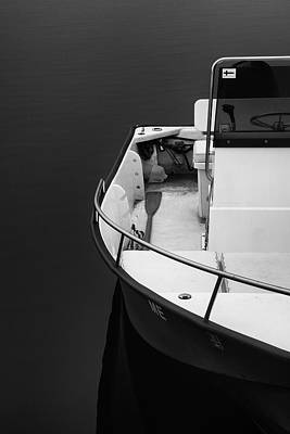 Photograph - Fishing Boat In Black And White by Vic Bouchard