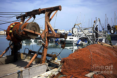 Photograph - Fishing Boat In Jaffa Port by John Rizzuto