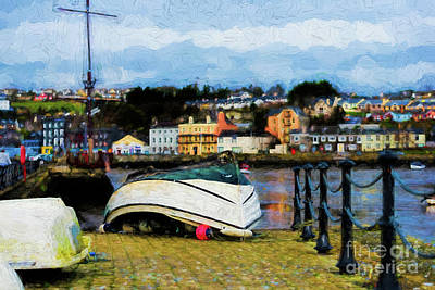 Digital Art - Fishing Boat In Kinsale - Painterly by Les Palenik