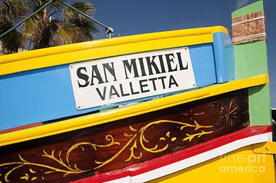 Photograph - Fishing Boat In Marsaxlokk by Brenda Kean