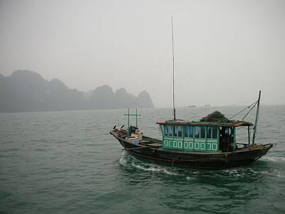 Photograph - Fishing Boat In North Vietnam by Irina ArchAngelSkaya