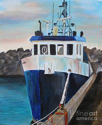 Fishing Boat  Art Print by Jo Baby