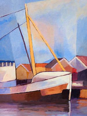 Fishing Harbour Painting - Fishing Boat by Lutz Baar