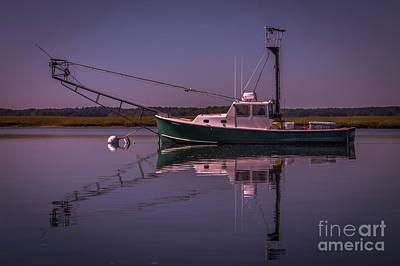 Photograph - Fishing Boat Moored by Claudia M Photography