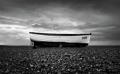 Photograph - Fishing Boat On Aldeburgh Beach #4 by David Calvert