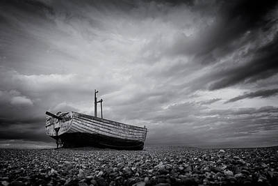 Photograph - Fishing Boat On Aldeburgh Beach #5 by David Calvert