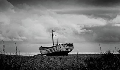Photograph - Fishing Boat On Aldeburgh Beach #2 by David Calvert