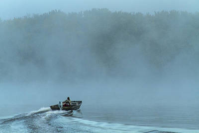 Photograph - Fishing Boat On The Mississippi River by Garry McMichael