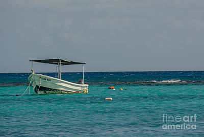Photograph - Scuba Boat On Turquoise Water by Cheryl Baxter