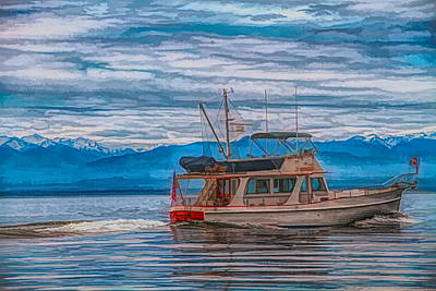 Mixed Media - Fishing Boat Pacific Northwest by Dan Sproul