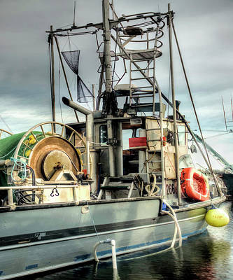 Fishing Boat Rigging Art Print by Greg Sigrist