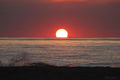 Photograph - Fishing Boat Sunrise by Robert Banach