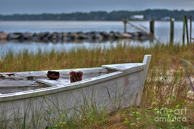 Photograph - Fishing Boat Yorktown Beach I by Karen Jorstad