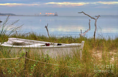 Photograph - Fishing Boat Yorktown Beach by Karen Jorstad