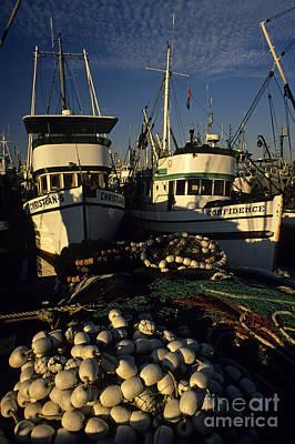 Photograph - Fishing Boats And Nets by Jim Corwin