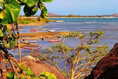 Photograph - Fishing Boats At Lake Malawi 02 by Dora Hathazi Mendes