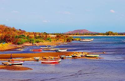 Photograph - Fishing Boats At Lake Malawi 03 by Dora Hathazi Mendes