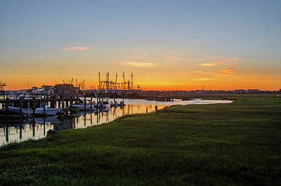 Photograph - Fishing Boats At Sunrise - Two Mile Landing by Bill Cannon