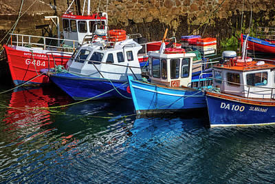 Photograph - Fishing Boats At The Coast by Debra and Dave Vanderlaan