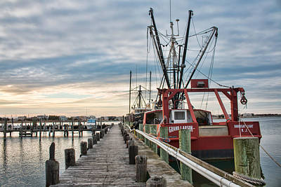 Photograph - Fishing Boats At The Pier by Kristia Adams