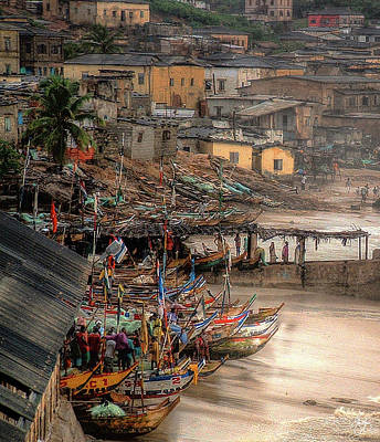 Photograph - Fishing Boats Cape Coast Ghana by Wayne King